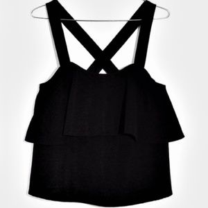 NEW Madewell texture & thread tiered tank top